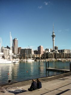 The Viaduct in Auckland, New Zealand. This whole area was revamped for the Rugby World Cup. It's a fantastic area to have a coffee, a meal or to just hang out!