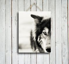 The Wolf -  Canvas - 11x14 in. Wolf decor- wolf art - wolf dog- wolf photography - wolf decoration - native american - man cave on Etsy, $80.00