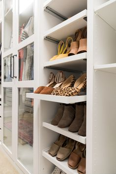 Walk-in Closet Makeover with IKEA PAX - Crazy Wonderful IKEA PAX shoe storage, dream closet makeover on a budget