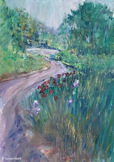 If you find a path with no obstacles, it probably doesn't lead anywhere. Winding along a flower bordered path offers a unique perspective as a reminder- bumpy paths often lead to the best destinations. Completed in oil on canvas paper. Impressionist Art, Impressionism, Canvas Paper, Oil On Canvas, Landscape Art, Landscape Paintings, Amazing Destinations, Paths, Perspective