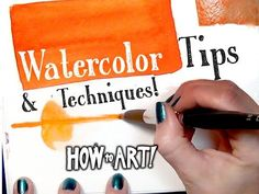 ▶ WATERCOLOR TIPS! - How To Art - YouTube This girl rocks my world!