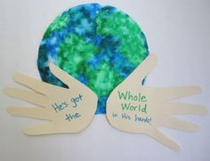 "Many great craft ideas, especially love ""He has the whole world in His hands"""