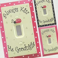 Ladybug Always Kiss Me Goodnight Switch Plate & Outlet