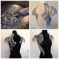 Linda Friesen uses polymorph plastic to create amazing prices for her couture fa. - Linda Friesen uses polymorph plastic to create amazing prices for her couture fashion line. Cosplay Tutorial, Cosplay Diy, Larp, Elf Kostüm, Style Steampunk, Steampunk Fashion, Mode Kawaii, Fashion Line, Latest Fashion
