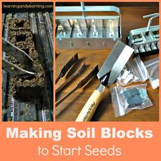 Soil blocks are a way to start healthy seeds without pots. Give it a try!