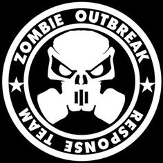 Zombie Mask Outbreak Response Team Decal Sticker,walking Dead,living Dead
