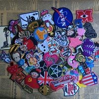 compras en China 10pcs/lot Mix Cartoon Animal Embroidered Iron-on patches for clothes jacket badge Military Patch DIY Accessory