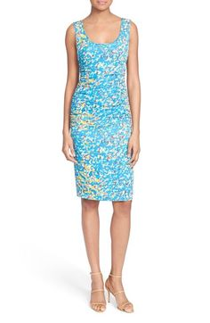 Tracy Reese 'T' Print Stretch Silk Dress available at #Nordstrom