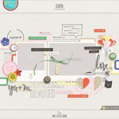 Chéri   Digital Scrapbooking Elements   One Little Bird