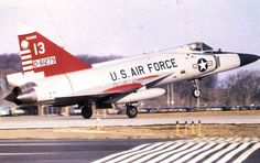 A Convair F-102A-75-Co Delta Dagger from the 176th FIS, taking off from Truax Field, Wisconsin.
