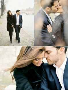 Love these engagements. So classy and timeless. Not too busy.-- maybe it is possible to have an engagement shoot in the winter. by isabelle0...