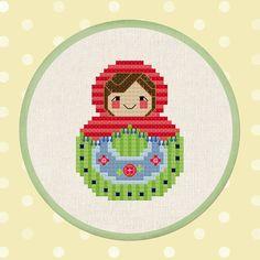 Cute Watermelon Matryoshka Nesting Doll. Cross by andwabisabi, $4.00
