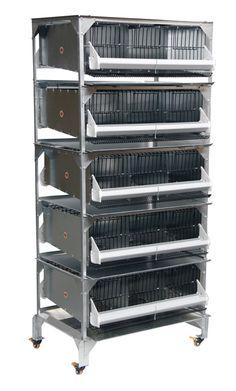 0315 - 15 Section Quail Battery Breeding Pen
