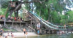Even though it has slides, floating docks, rope swings, water balance beams… Places In Florida, Old Florida, Florida Beaches, Florida Trips, Tampa Florida, Great Places, Places To Visit, Florida Adventures, Swimming Holes