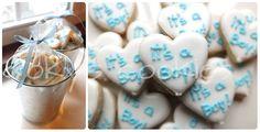 baby gender reveal cookies