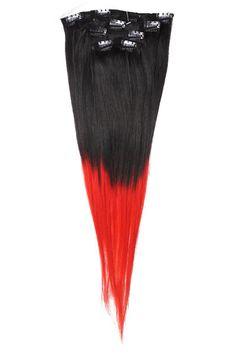 """Clip-on 5-os 80g 20"""" -Black/Red Slide"""