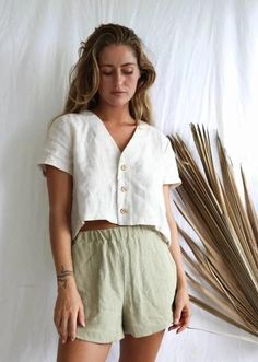 Summer Outfits, Casual Outfits, Fashion Outfits, Pretty Outfits, Cute Outfits, Crop Tee, Lingerie, Style Guides, Spring Summer Fashion
