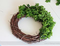 How To Make A Boxwood Wreath.... - Love of Family & Home
