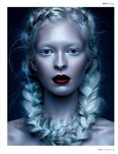 Arctic Berry | Institute Magazine    Photography Angels Colon   Makeup - David Razzano    Hair - @gbhairstylist    Model - Joanna Bajena @mojojojo_jojo   Retouch - Stef Kapavlova