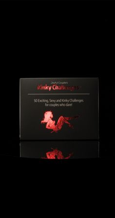 Are you looking to dive deeper and experience intimacy at the highest? Kinky Challenges will test your ability to trust, to experience the new, and to test your sexual limits! Kinky Challenges is a spicy sex card game with challenging sexual activities for you and your partner. This game is meant for experienced lovers who want to take their sex life to a whole new level. The game includes 50 challenging activities that vary from simple sexual tasks to the extreme, like swinging. Relationship Advice, You Look, Kinky, Gifts For Him, Card Games, Diving, Gift Tags, Gift Guide, Challenges