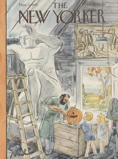 The New Yorker - Saturday, November 1, 1947 - Issue # 1185 - Vol. 23 - N° 37 - Cover by : Perry Barlow