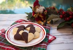 Italian Food Forever » Chocolate Dipped Heart Cookies