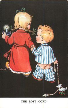 Vintage Dinah postcard