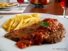 Los Antojos de Clara: Bistec a la criolla y bistec a caballo