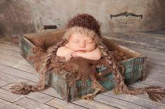 Panier de superposition couverture photographie Prop nouveau-né bébé Photo Prop…