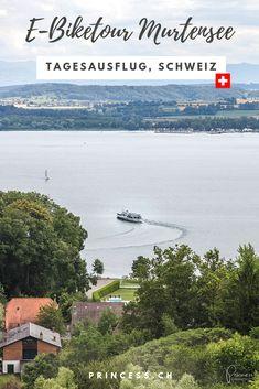 Ausflugstipp Schweiz: Eine Genussreise um den Murtensee mit dem E-Bike. Dazu ein Besuch im zauberhaften Städtchen Murten. Beach, Water, Outdoor, Day Trips, Old Town, Tours, Travel Destinations, Gripe Water, Outdoors