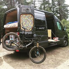 Bike repair station mounted to the back of @traipsingabout's Sprinter....oh and if you are looking for a good Sprinter Van Blog, they've got one. I've gotten lots of good ideas for my own van from them. Show off your Sprinter van! Tag your pics #sprintercampervans to be featured! Regram via @sprintercampervans
