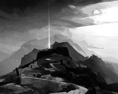 Tölva environment concept sketch