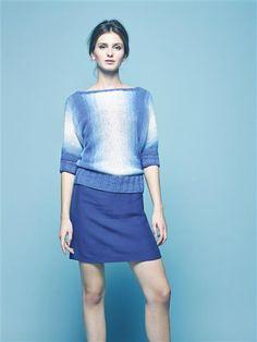 """Vol 4: Design 12 """"Cira"""" genser på tvers #LeilaHafzi #SandnesGarn"""