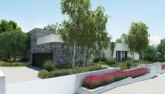 Fachada de casa moderna de un piso, incluye diseño interior | Construye Hogar