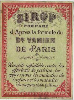 Old Paris Label - The Graphics Fairy
