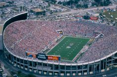 Tampa Stadium, known as the Sombrero, was home to the bowl through 1998.