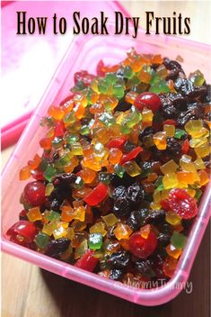 All those christmas fruit cake lover will be starting to soak their dry fruits a year before christm Christmas Desserts, Christmas Baking, Christmas Fruit Cake Recipe, Xmas Food, Christmas Candy, Christmas Decor, Rum Fruit Cake, Fruit Cakes, Fruit Cake Recipe With Rum