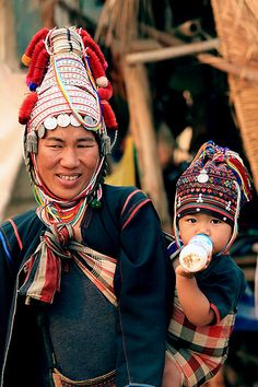 Mother And Child - Akha Tribe In North Thailand
