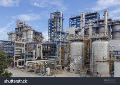 Photo about Big structure of petrochemical plant wit blue sky. Image of power, industry, pollution - 34074957 Oil Rig Jobs, Social Media Graphics, New York Skyline, Photo Editing, Royalty Free Stock Photos, Industrial, Big, Plants, Travel