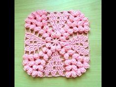 Granny punto popcorn tejido a crochet / granny point popcorn facil crochet - YouTube