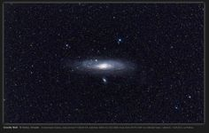 """project nightflight sent in a widefield image of the Andromeda galaxy showing the pronounced warp of the galaxy's disk. The astrophotographers write: """"The great Andromeda galaxy shows its true size in this photo. It spans a whopping four degrees, which is eight times the apparent size of the full moon."""""""