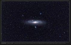 Andromeda Galaxy Space Image: Warped Andromeda Galaxy in Widefield Image