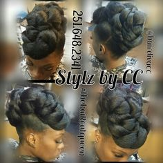 Protective style bun Click image for more. Black Hair Updo Hairstyles, My Hairstyle, Box Braids Hairstyles, Beautiful Hairstyles, African Hairstyles, Wedding Hairstyles, Natural Hair Updo, Natural Hair Styles, Short Hair Styles