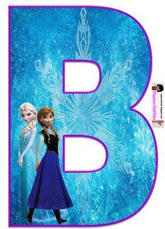 Frozen: Free Elsa and Ana Alphabet. Frozen: Bello Alfabeto Gratis de Elsa y Ana. Frozen Birthday Party, Disney Frozen Birthday, Frozen Theme Party, Birthday Themes For Boys, Alphabet And Numbers, Party Themes, Frozen Free, Frozen 1, Frozen Invitations