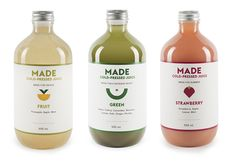 Made cold-pressed juices from Australia.