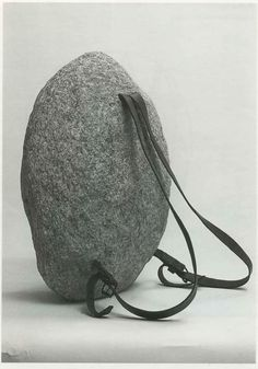 Jana Sterbak, 'Sisyphus Sport', stone, leather straps and metal buckles, 50 x 36 x 25 cm