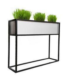 Madeira Window Box by nmn designs Resin Planters, Indoor Planters, Diy Planters, Modern Planters, Rectangular Planter Box, Elevated Planter Box, Aluminum Uses, Window Planter Boxes, Backyard Playground