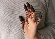 Finger Henna Designs, Henna Art Designs, Indian Mehndi Designs, Mehndi Designs For Beginners, Stylish Mehndi Designs, Mehndi Designs For Fingers, Wedding Mehndi Designs, Beautiful Henna Designs, Khafif Mehndi Design