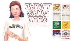 rosy-sims  thrift shop tees    20 recolors     download    need mesh by @theslyd