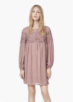 Rosa cuarzo, color Pantone 2016: vestido de Mango